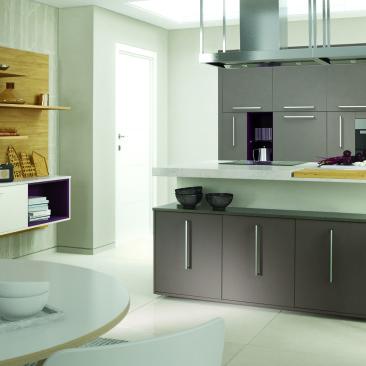 North Devon Kitchens | Kitchen Designers Barnstaple Bourn Matt Lava & Porcelain_Angle 1