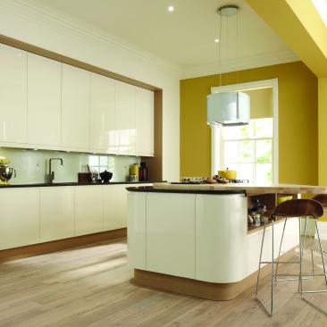 North Devon Kitchens | Kitchen Shops Barnstaple Leigh Gloss Alabaster_Main