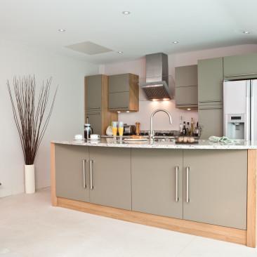 North Devon Kitchens | Kitchen Fitter Barnstaple Linden Olive_Angle