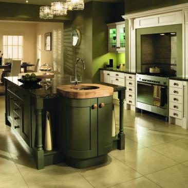 North Devon Kitchens | North Devon Kitchen Companies Wickham Alabaster & Painted Olive_Main