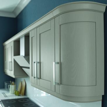 North Devon Kitchens | North Devon Kitchen Companies Wickham Painted Stone_Curved Door