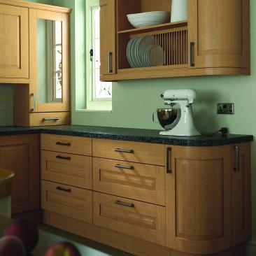 North Devon Kitchens | Kitchen Design Barnstaple Yelverton Oak_Curved Doors