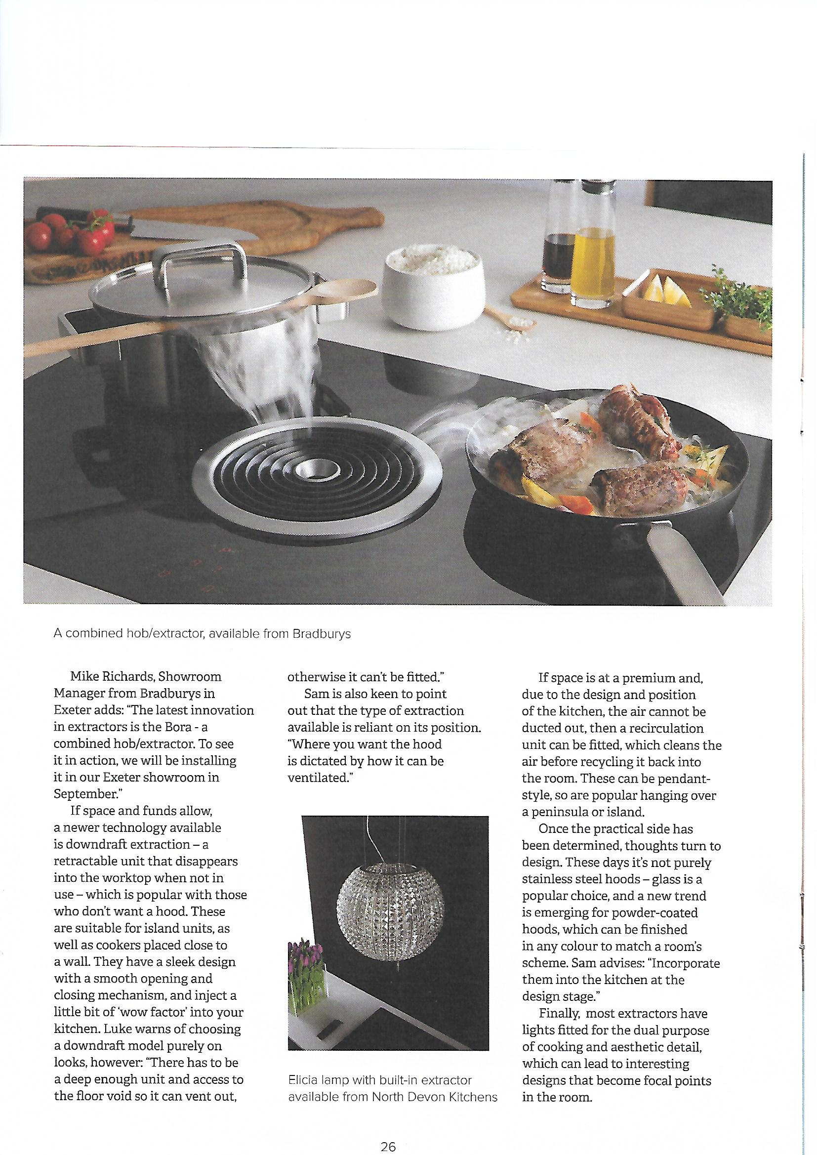 Devon Home Magazine Extractors North Devon Kitchens