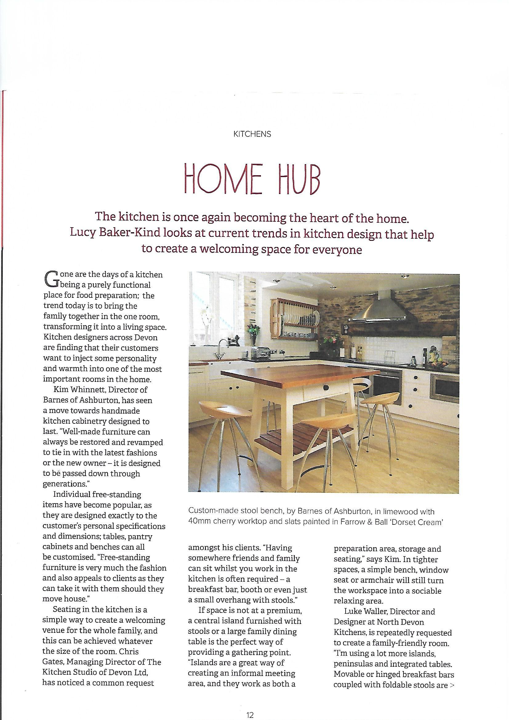 Devon Home Magazine North Devon Kitchens Kitchen Company Barnstaple